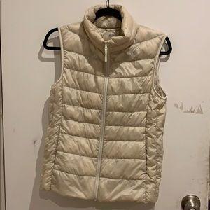 Uniqlo Puffer Vest Cream